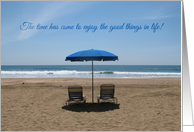 Retirement Beach Chairs card