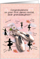Congratulations on first dance recital, granddaughter card
