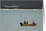 Birthday - Fishing Boat card