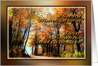 Happy Thanksgiving Grandma & Grandpa- Country Road in Autumn Colors card