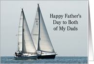 Two boats for two Dads card