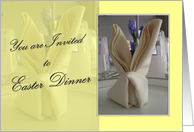 Easter Dinner - You are Invited - Yellow card