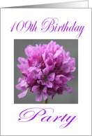 Happy 109th Birthday Party Invitation Purple Flower card