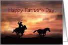 Father's Day Roping Cowboy Customizeable card
