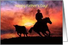 Cowboy happy fathers day card