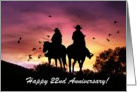 Cowboy and Cowgirl 22nd Anniversary card