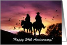 Cowboy and Cowgirl 24th Anniversary card