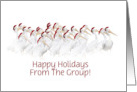 Happy Holidays from a Group Pelicans with Santa Hats Customize card