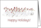 Happy Holidays Pelicans with Santa Hats Customize card