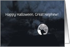 Happy Halloween Black Cat and Full Moon great Nephew Customize card