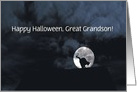 Happy Halloween Black Cat and Full Moon great grandsonCustomize card