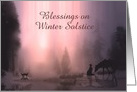 Happy Winter Solstice Cowboy Horse and Deer Customize card