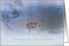 Happy Winter Solstice Dear and Jay Customize card