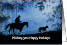 Holiday Cowboy and Steer Customize card