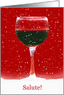 Salute Happy Holidays Wine and Snow Card