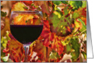 Thanksgiving Fall Wine and Vineyard Card