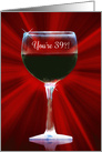 Wine Humor Happy 39th Birthday card