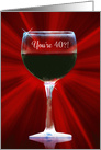 40th Wine Happy Birthday Funny Turning 40 card