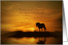 Encouragement Lao Tzu Famous Quote a Thousand Miles Horse and Bird card