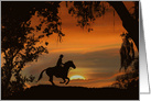 Happy Trails Cowboy Birthday Sunset card
