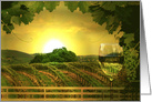 Wine country birthday greeting card