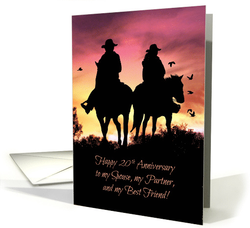 Cowboy and Cowgirl 20th Anniversary card (1264952)