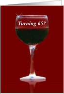 Red Wine 65th Happy Birthday card