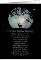 Winter Solstice Blessings Elk and Moon card