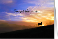 Forgiveness, Forget the Past Horse in Sunrise card