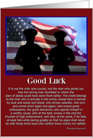 Good Luck Marine Boot Camp Famous Inspiring Quote Theodore Roosevelt card
