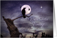 Raven Winter Solstice, Native American Winter Solstice Blessings card