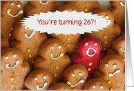 Funny Cookies Happy 26th Birthday Customizable card