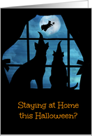 Halloween Covid 19 Corona Virus Staying at Home Halloween Cat and Dog card