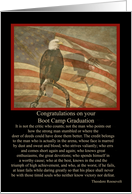 Vintage Eagle and Flag Congratulations on Boot Camp Graduation card