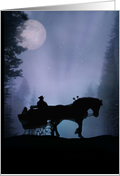 christmas Sleigh Ride in the Moonlight from Across the Miles card