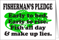 FISHERMAN'S PLEDGE - LARGE MOUTH BASS card