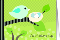 Bird and Nest Mother's Day card