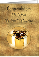 Golden Birthday Congratulations with Gift card