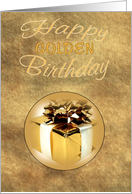 Golden Birthday Gold Wrapping card