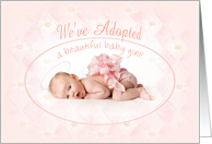We've Adopted Announcement card