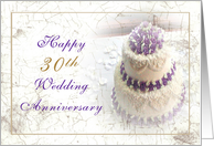 30th Anniversary Wedding Cake card