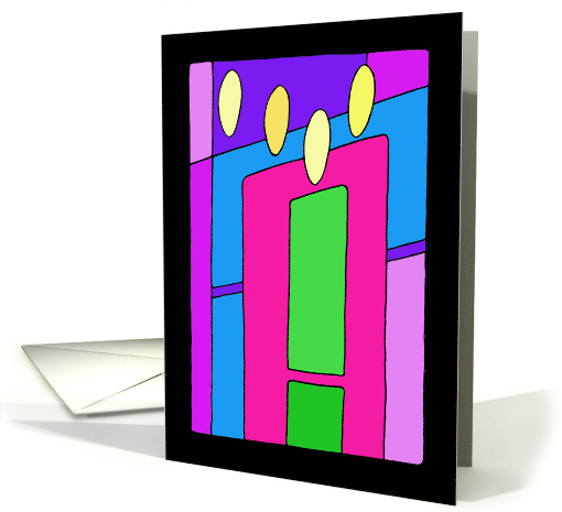 Festival of Lights - Christmas Candles card (728822)