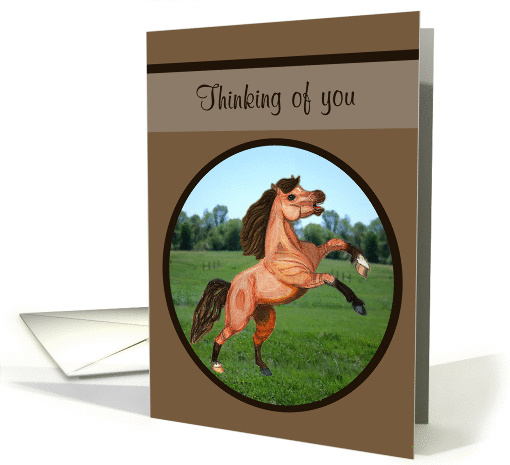 Thinking of you Rearing Pony card (1122464)