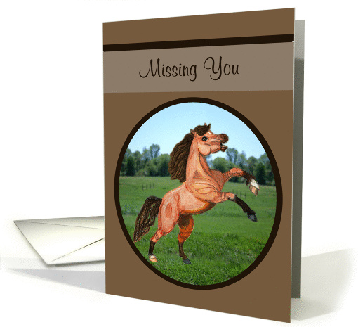 Missing You Prancing Pony card (1122480)