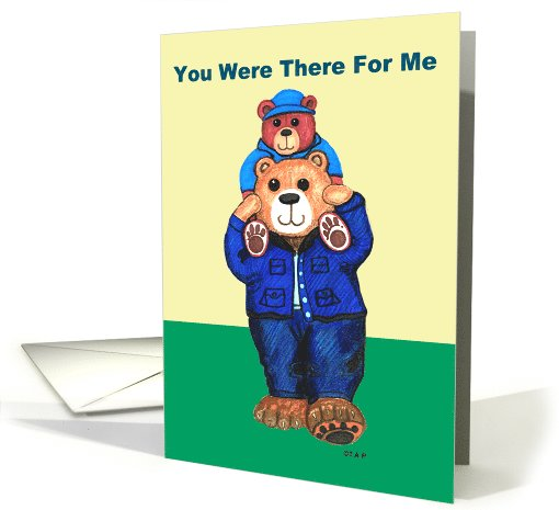 Daddy Bear carries Kid Bear Father's Day card (517999)