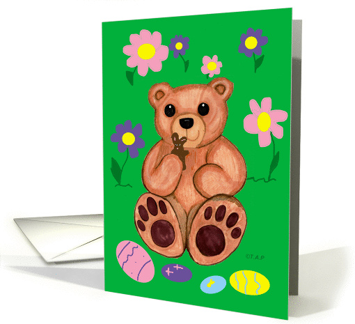 Easter Cookie Teddy Bear for Girl card (570550)