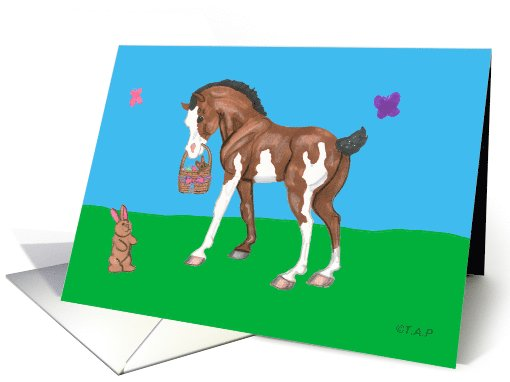 Pinto Easter Horse Foal card (570560)