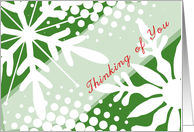 Thinking of you-Snowflakes card
