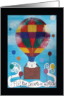 Hot Air Balloon with Bear Encouragement for Grandson card