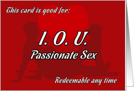 IOU Passionate Sex coupon card